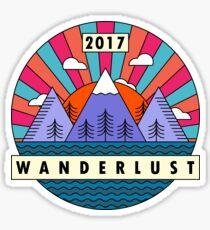 Wanderlust Line Art Color Sticker
