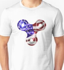 Patriotic Fidget Spinner USA Flag - 4th of July American  T-Shirt