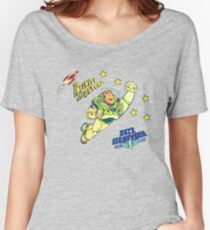 Andys 90'sToy Story Bed Replica Buzz Lightyear Women's Relaxed Fit T-Shirt