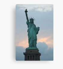Lady Liberty Statue of Liberty NYC New York Skyline Pride Canvas Print
