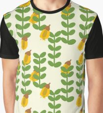 Retro Kowhai Pattern by Katrina Ward Graphic T-Shirt