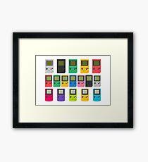 Gameboys (white) Framed Print