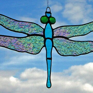 "Dragonfly ""Iridescent wings"" by neilsglass"
