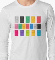 Colourful Gameboys (white) Long Sleeve T-Shirt