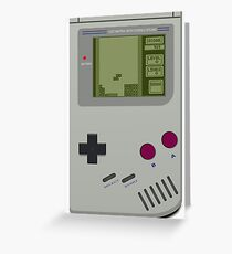 gameboy tetris Greeting Card
