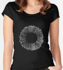 abstract circle white Women's Fitted Scoop T-Shirt