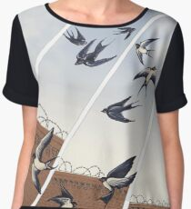 swallows in full company strength Chiffon Top