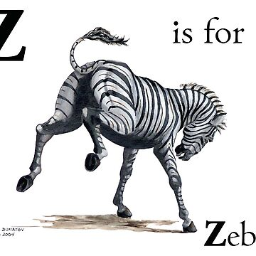 Z is for Zebra by Horseworks