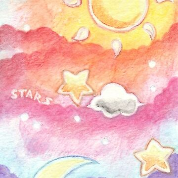 Sun, Moon & Stars Painting Bookmark  by leviadraconia