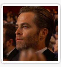 Single Tear Oscars Chris Pine Sticker