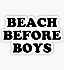 BEACH BEFORE BOYS Sticker