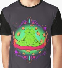 Frog Says Peace Graphic T-Shirt
