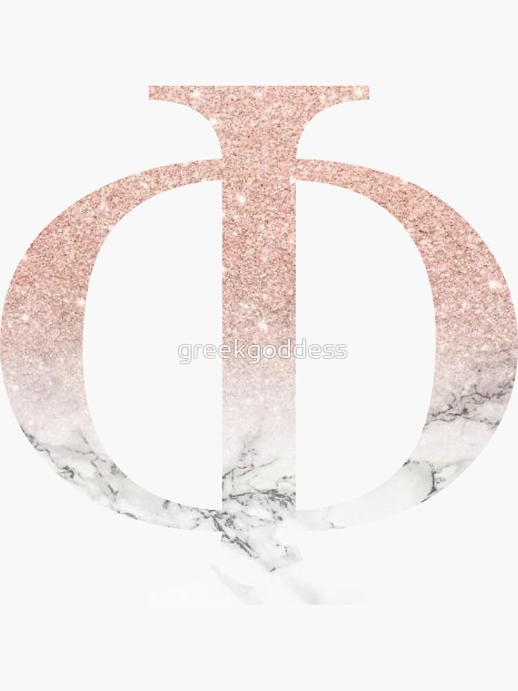 Rose Gold Glitter und Marmor Phi von greekgoddess