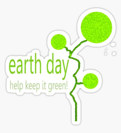 Lime Bubble Plant - Earth Day Sticker