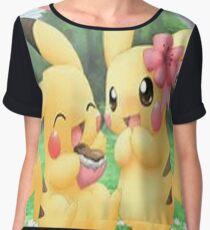 Cute Pikachu Chiffon Top