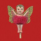 Cute Kewpie - Red Background by STHogan