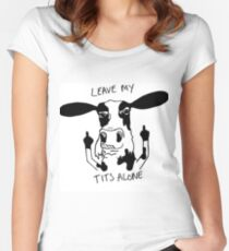 Vegan - Leave my tits alone Women's Fitted Scoop T-Shirt