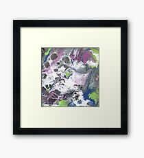 Purple and Green Abstract Framed Print