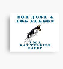 rat terrier dad Canvas Print