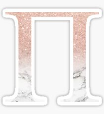 Rose Gold Glitter and Marble Pi Sticker