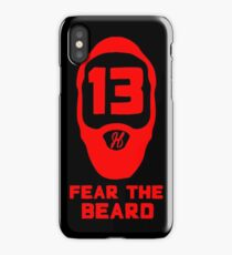 Fear The Beard - Red iPhone Case/Skin