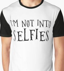 Cool Anti Selfie Funny Simple Rebel Disco Modern Punk Rock Dark Alternative Tennager Teen Party T-Shirts Graphic T-Shirt