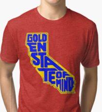 Golden State of Mind Yellow/Blue Tri-blend T-Shirt