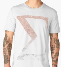 Rose Gold Glitter and Marble Sigma Men's Premium T-Shirt