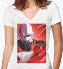 Jiren the gray  Women's Fitted V-Neck T-Shirt