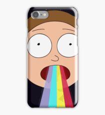 Trippy Hallucinogenic Rainbow Morty Design iPhone Case/Skin