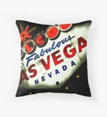 Vegas Sign No. 3 Throw Pillow