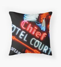 Chief Hotel Throw Pillow