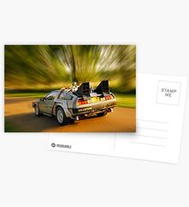 DELOREAN.... Back to the Future. Postcards