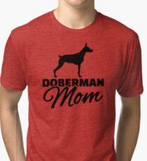 Doberman Mom Tri-blend T-Shirt