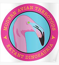 Modern Avian Theropods - Extant Dinosauria: Phoenicopterus ruber Poster