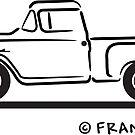 1958 1959 Chevrolet Pickup Truck by Frank Schuster