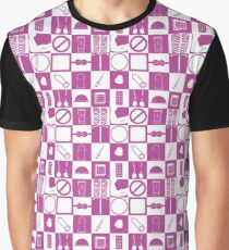 Contraception Checkerboard-Purple Graphic T-Shirt