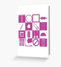 Contraception Checkerboard-Purple Greeting Card