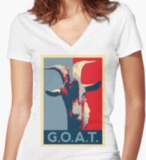 G.O.A.T. - GOAT - Greatest of all time Women's Fitted V-Neck T-Shirt
