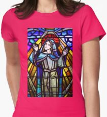 Stained glass 8. Womens Fitted T-Shirt