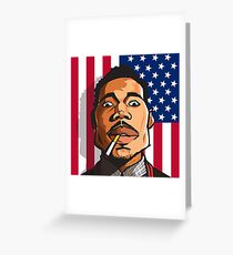 Chance the Rapper Cartoon (Acid Rap 10 Day) Greeting Card