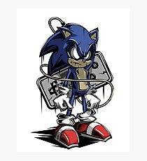 The Hedgehog Sonic Photographic Print