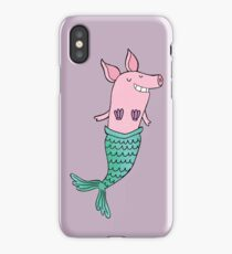 Mermaid Pig - Purple  iPhone Case