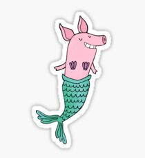 Mermaid Pig - Purple  Sticker