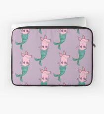 Meerjungfrau Schwein - Lila Laptoptasche