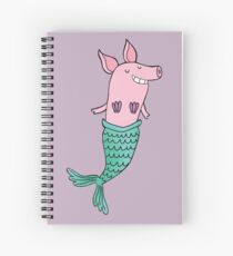 Mermaid Pig - Purple  Spiral Notebook
