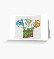 Flowers for Nanny Gilly Greeting Card