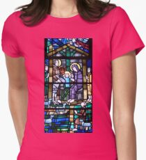 Stained glass  11. Womens Fitted T-Shirt