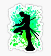 Zoro Paint Splatter Aniime Inspired Shirt Sticker