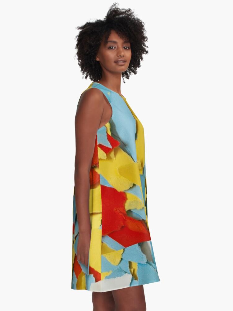 Alternate view of Shredded Sunny Skies A-Line Dress